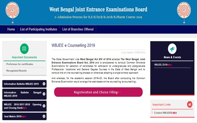 WBJEE 2019 Counselling