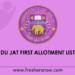 DU-JAT-First-Allotment-List-2019