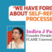 'We have forgotten about self-reflective processes'