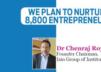 We plan to nurture 8,800 Entrepreneurs