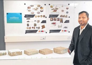 New environmental friendly, bio-bricks developed by two researchers