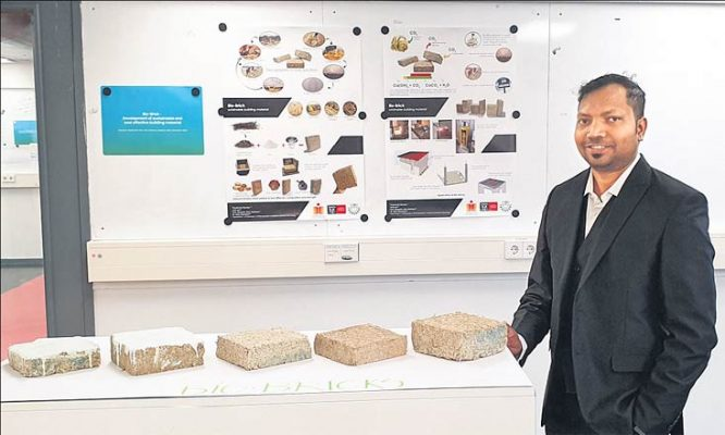 New environmental friendly, bio-bricks developed by two researchers
