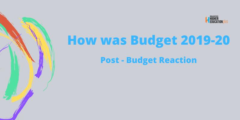 Budget 2019- 20