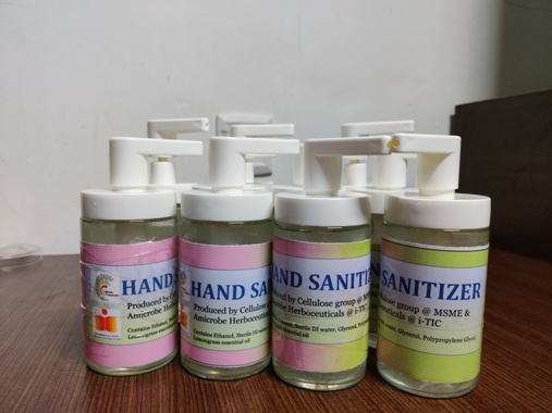 The Hand Sanitizers developed by IIT Hyderabad - HIGHER EDUCATION PLUS