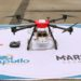 A startup is deploying drones to spray disinfectant in public spaces
