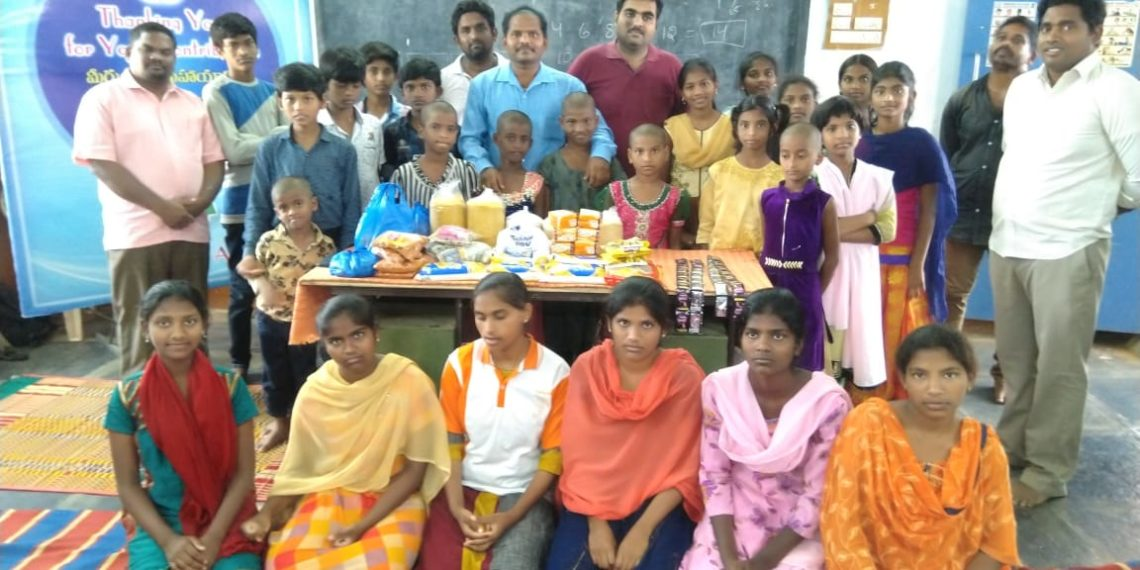 SRM University's AP students supplied essentials to villagers
