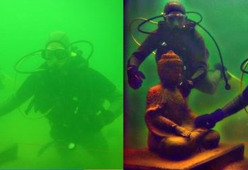 A Hazy Image underwater alongside a revised image improved by IIT Madras Researchers
