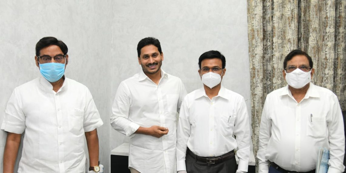 Chief Minister YS Jagan Mohan Reddy extended his support towards the development of SRM University- AP