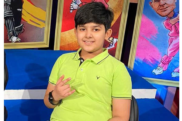 Ryanite Aarav Sharma, the youngest anchor hosted the IPL 2020 Masala Unlock show on Zee News